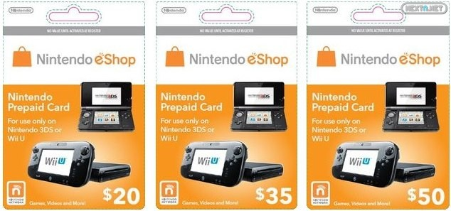 eShop tarjetas 3DS Wii U 29-09
