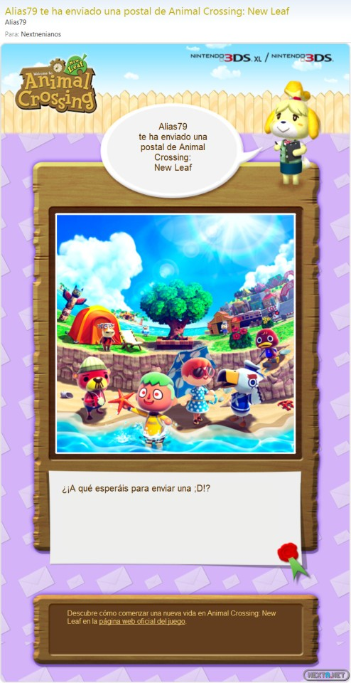 1305-21 Animal Crossing Postales