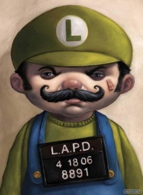 1306-18 Luigi ojo hinchado