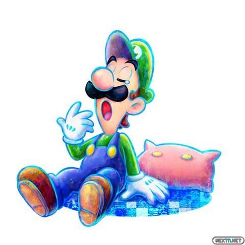 1307-22 Mario & Luigi Dream Team Bros Artwork Luigi1