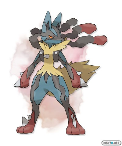 1308-09 Pokémon X-Y Mega- Lucario artwork