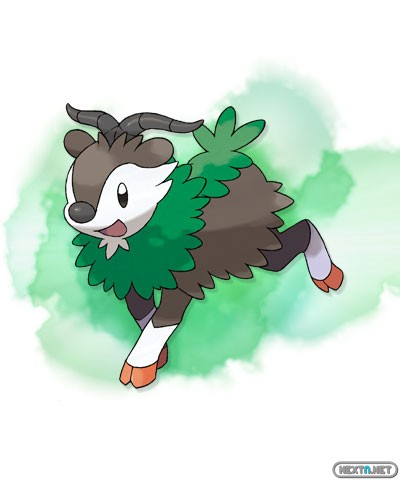 1308-09 Pokémon X-Y Skiddo artwork