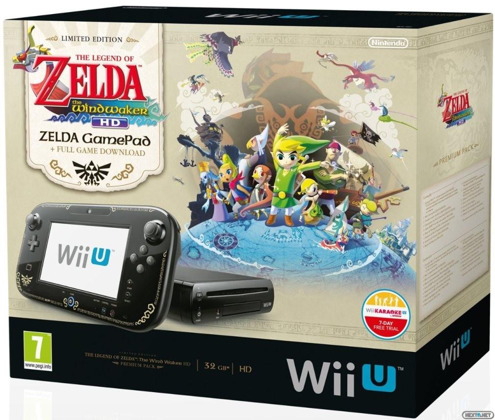 1308-29 Pack Wii U Premium Zelda Wind Waker HD
