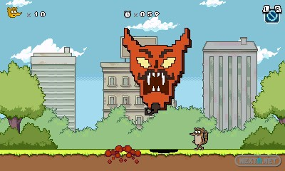 1309-04 Regular Show Mordecai and Rigby In 8-bit Land  3DS 05