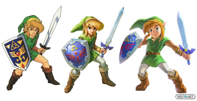 1309-12 Zelda A Link Between Workds varios Links