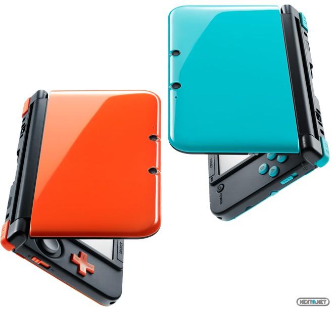 1310-23 3DS XL Naranja Negro Turquesa 04