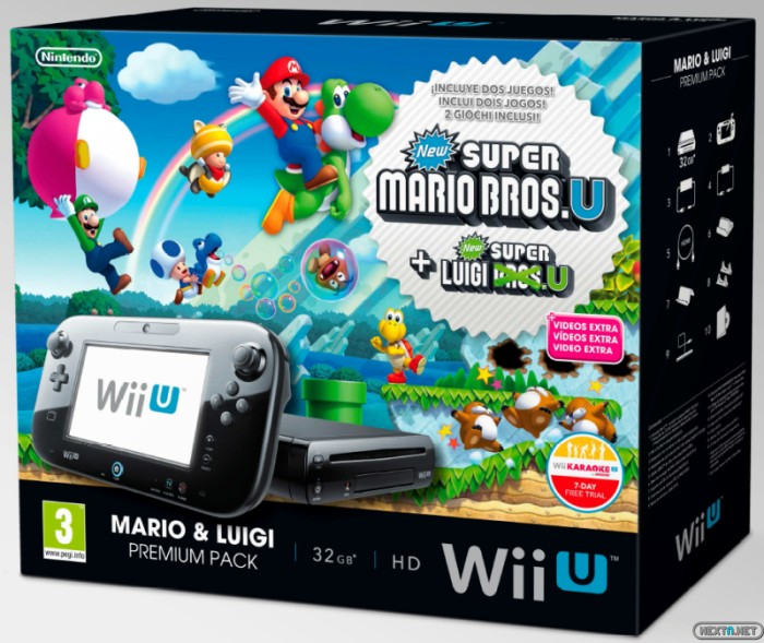 1310-10 Wii U New Super Mario Pack Premium