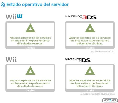 1312-27 Estado de la Nintendo Network 27-12