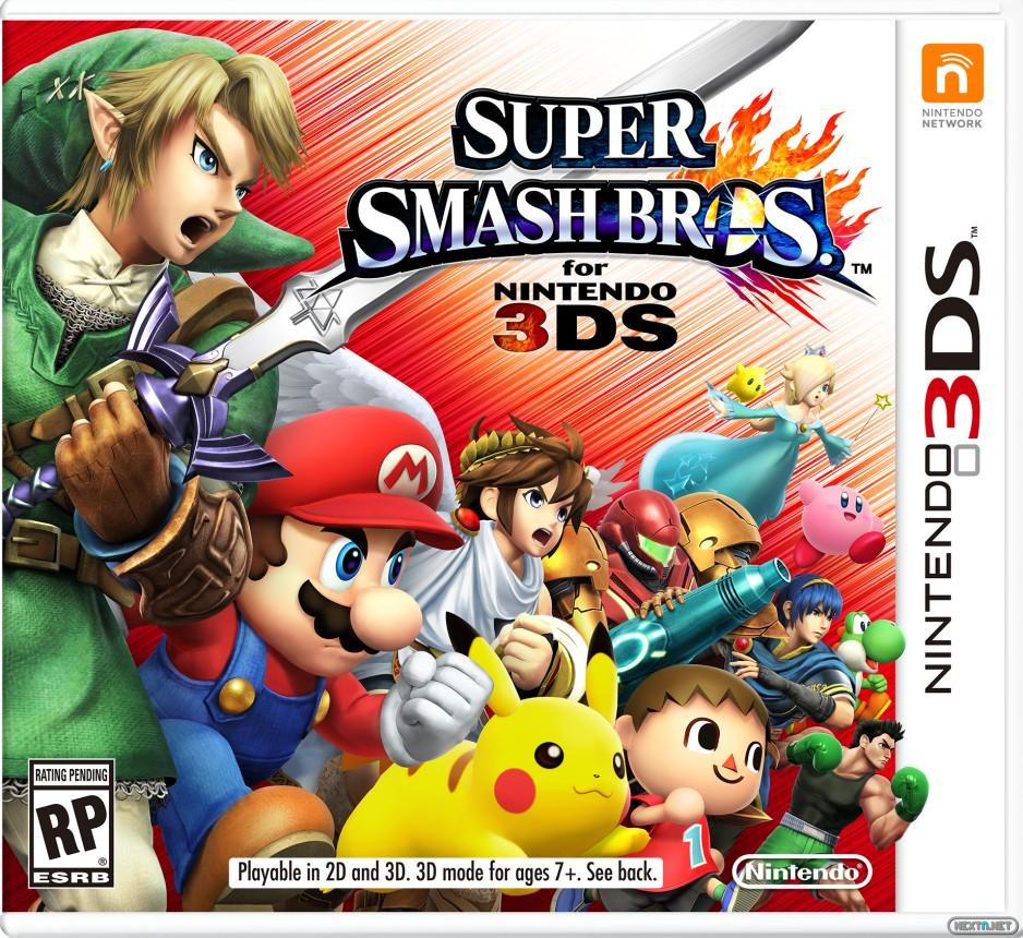 Super Smash Bros. 3DS Boxart