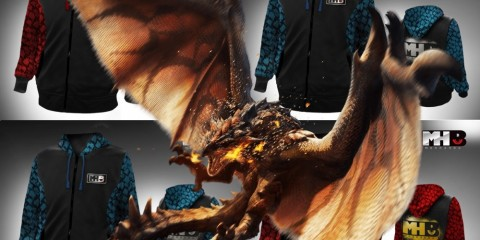 1407-14 Sudaderas Monster Hunter Rathalos
