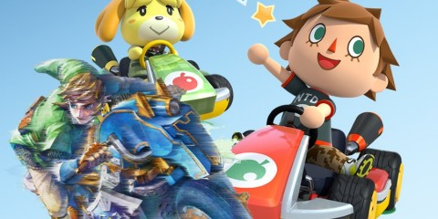 1410-15 Mario Kart 8 DLC Link Epona Animal Crossing