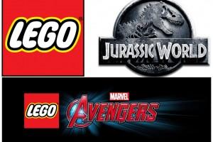 1501-29 Lego Avengers y Jurassic World Logos