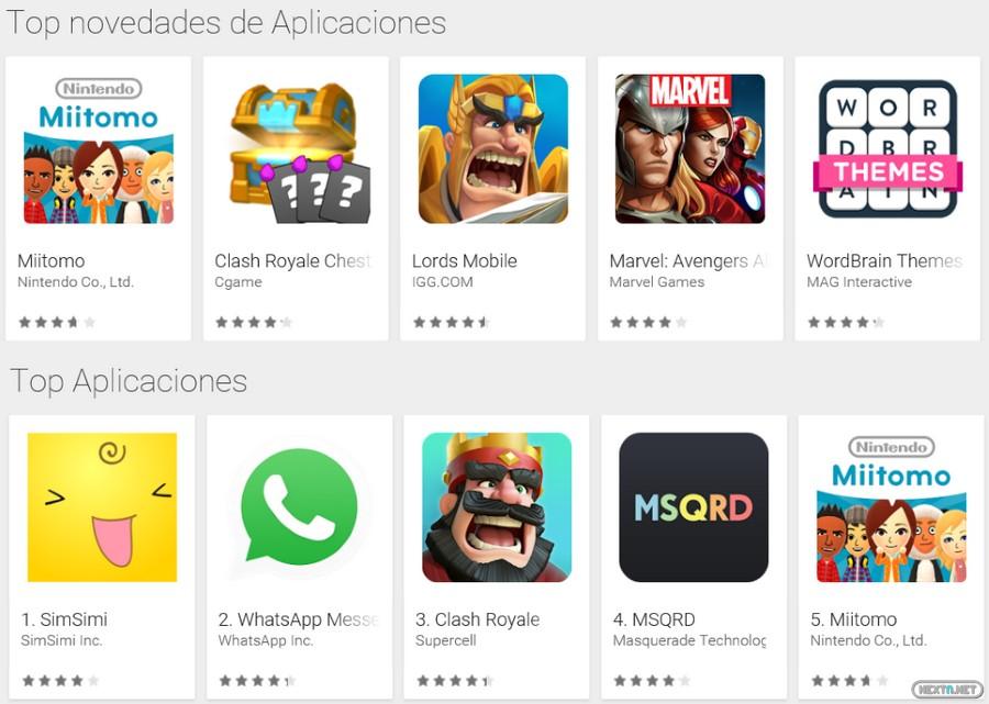 Miitomo Top App Android