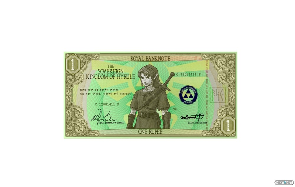 Rupias Zelda billete