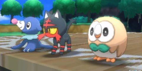 Pokémon Sol Luna Litten Popplio Rowlet