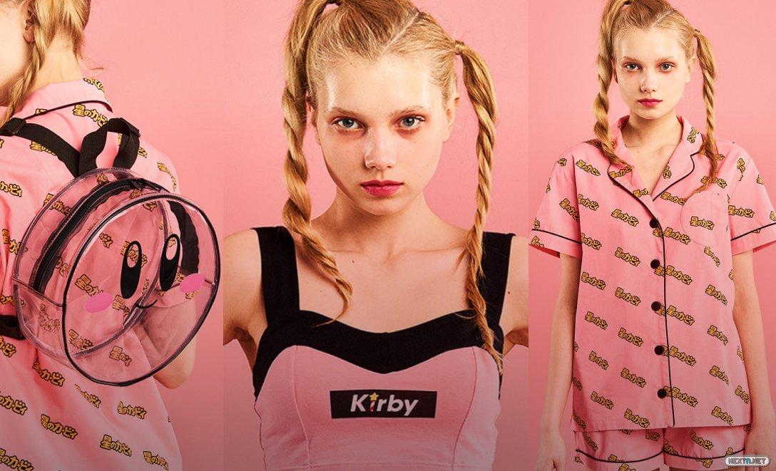 Kirby × Yummy Mart ropa lencería