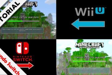 Tutorial transferir Minecraft Wii U Switch