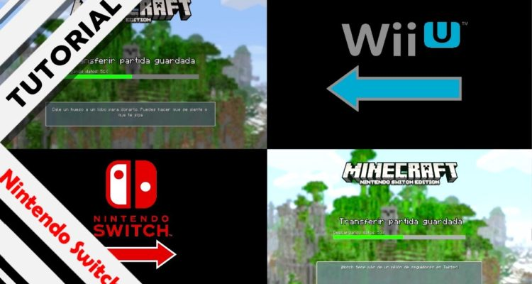 Tutorial transferir Minecraft Wii U Switch