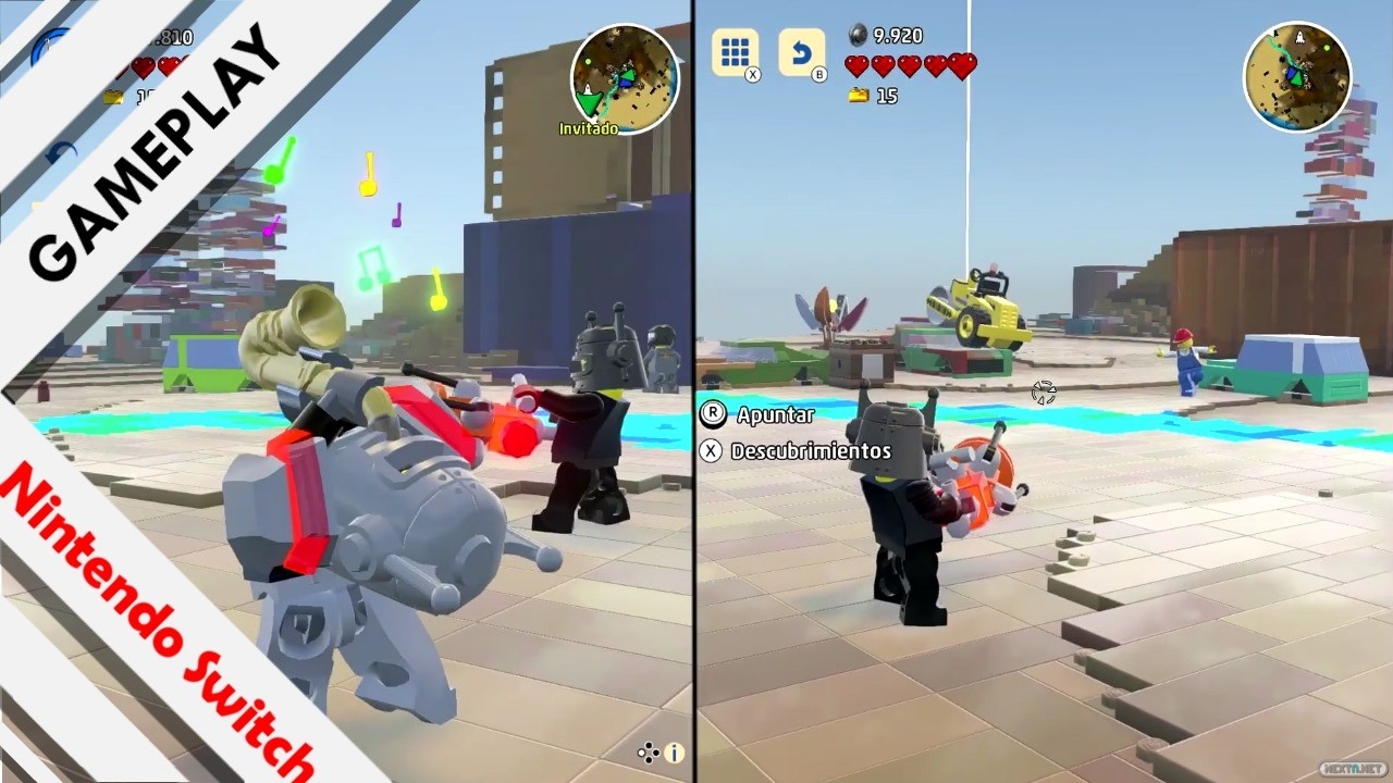 LEGO Worlds jugabilidad dos jugadores chatarra
