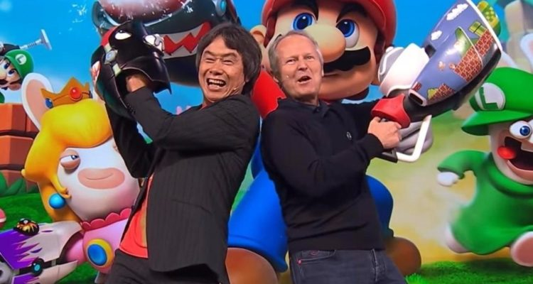 Mario Rabbids Kingdom Battle Shigeru Miyamoto Yves Guillemot Shigeru Miyamoto Ubisoft