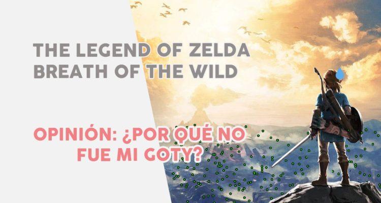 Opinión Zelda Breath of the Wild no fue mi GOTY