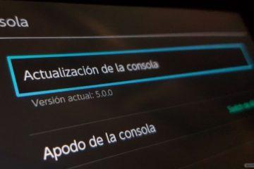 Actualización Nintendo Switch 5.0.0