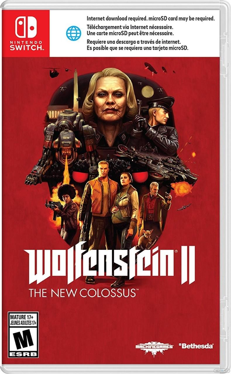 Wolfenstein II The New Colossus Switch boxart