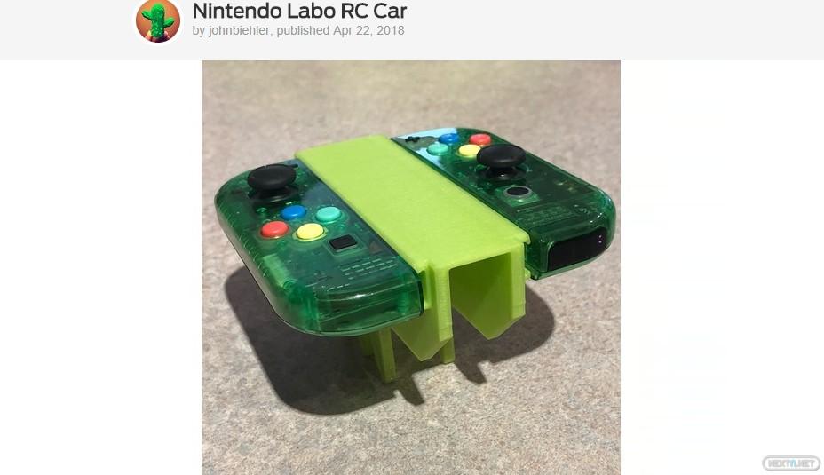 Thingverse Antenauta Nintendo Labo