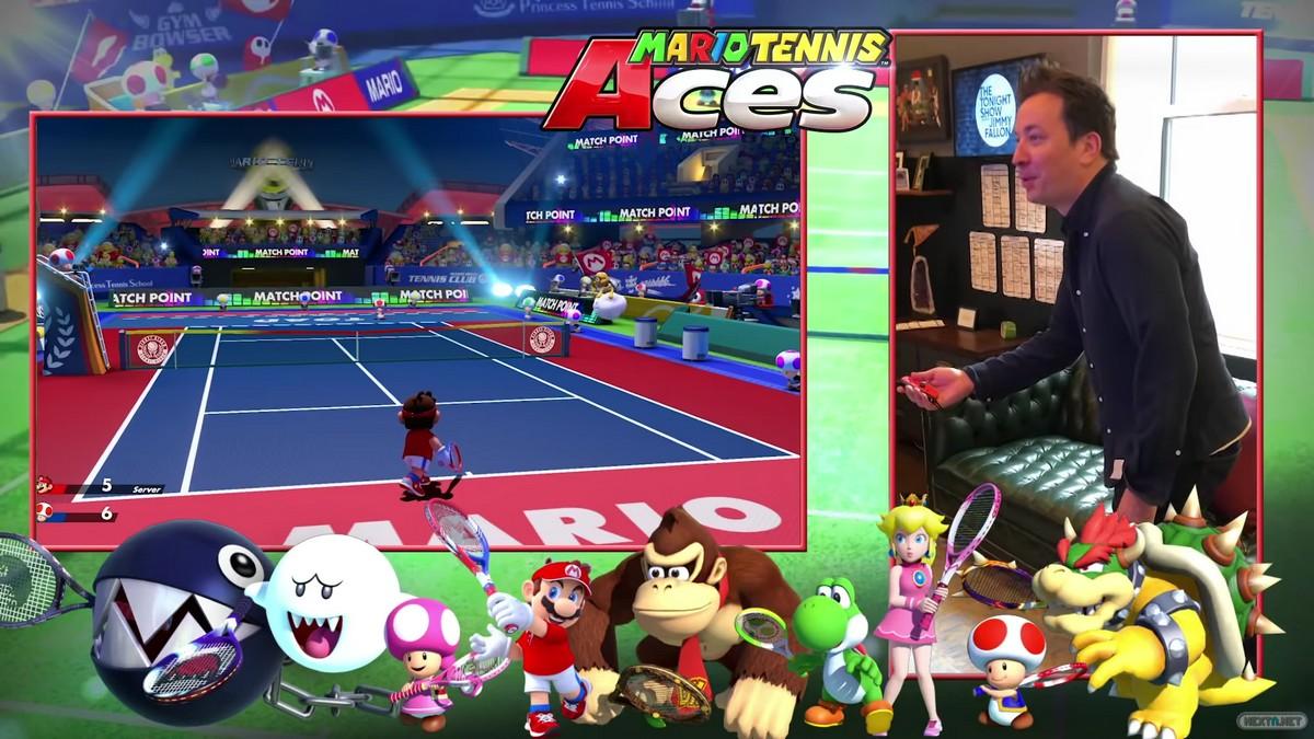 Mario Tennis Aces Jimmy Fallon