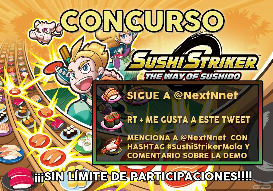 Concurso SushiStrikerMola Sushi Striker The Way of Sushido