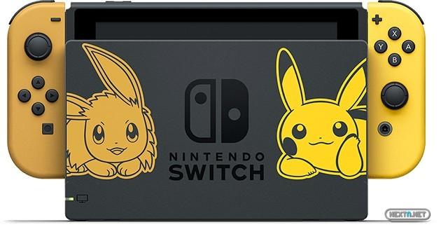Nintendo Switch Pokémon Let's GO Eevee Pikachu Dock