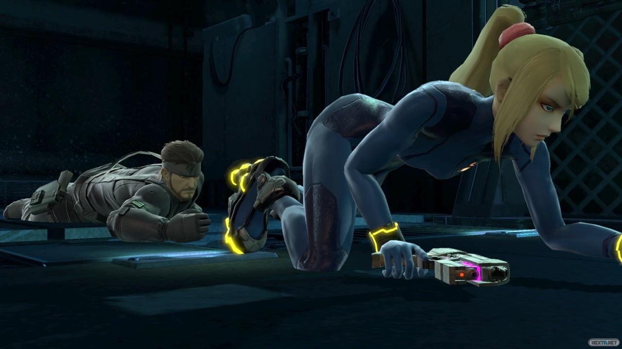 Samus Zero Suit Snake Super Smah Bros. Ultimate