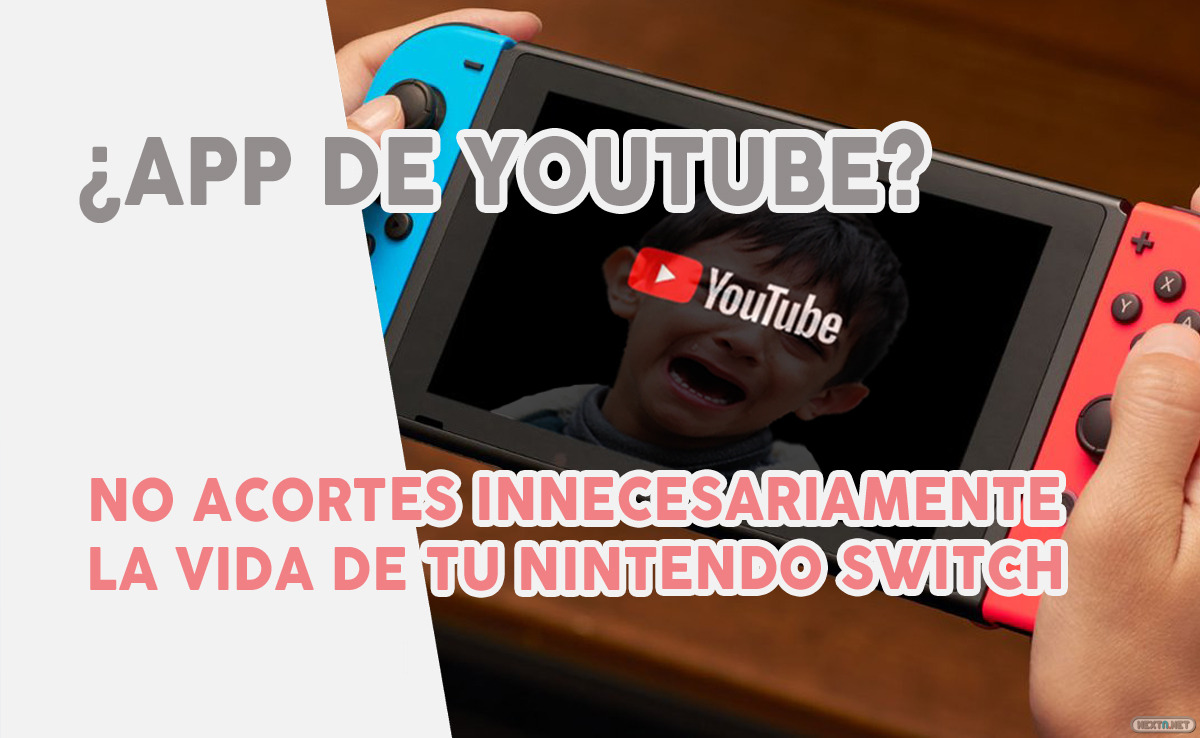 No uses App YouTube Nintendo Switch