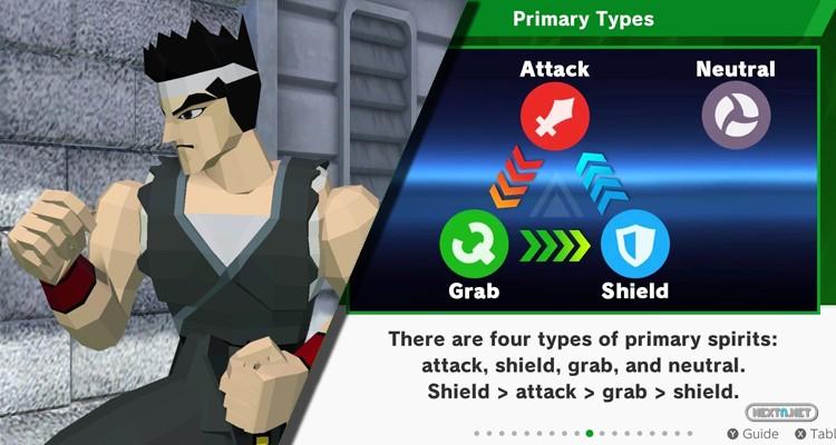 Super Smash Bros. Ultimate Blog Ayudante Akira Atributos Espíritus Nintendo Switch