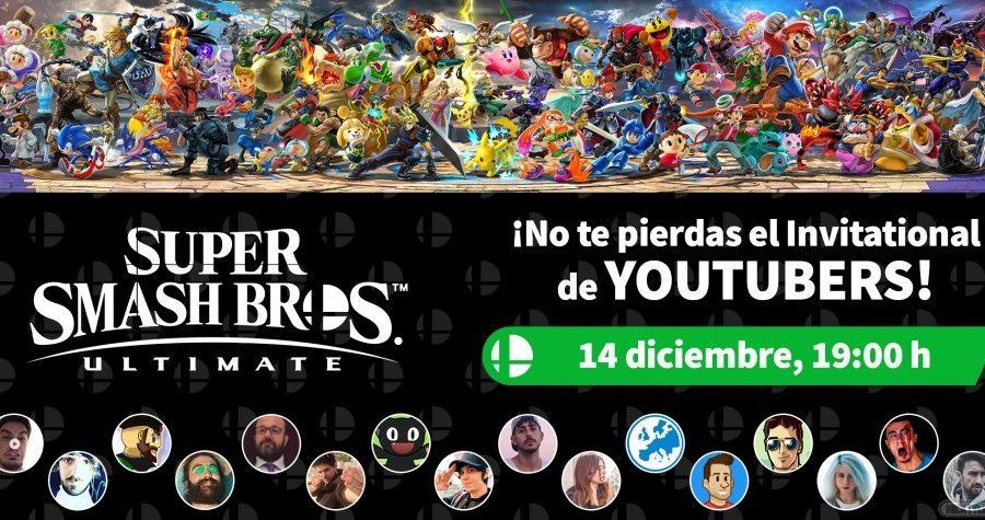 Anuncio del Super Smash Bros. Ultimate Invitational de youtubers.