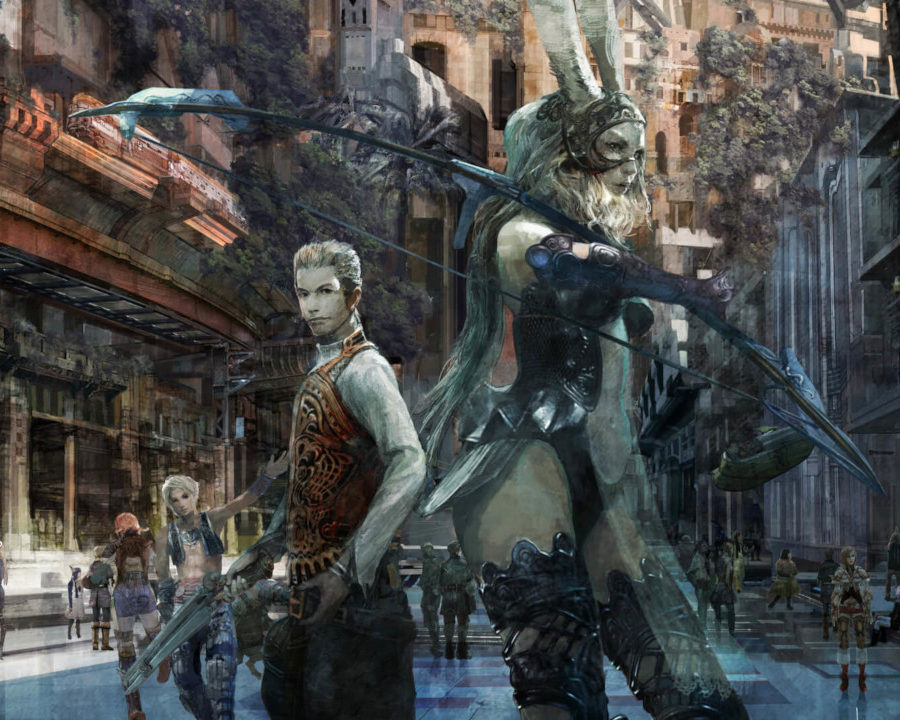 Póster protagonistas Final Fantasy XII Zodiac Age