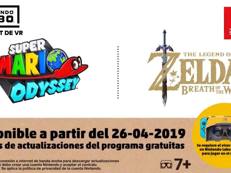 Nintendo Labo Kit VR Zelda BOTW Super Mario Odyssey