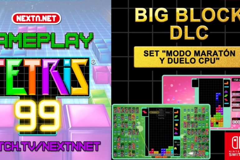 Tetris 99 gameplay Big Block DLC