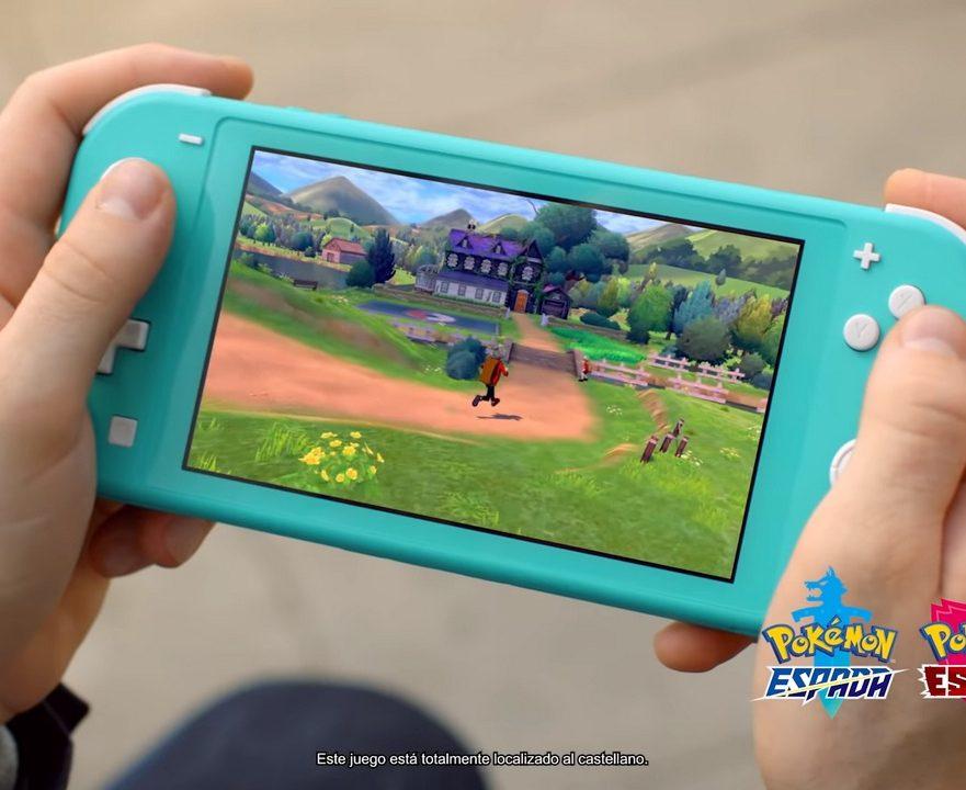 Nintendo Switch Lite Comercial Tráiler 3 Minutos Pokémon Espada Pokémon Escudo Zelda Link's Awakening Luigi's Mansion