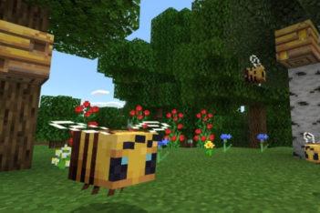 Minecraft 1.14.0 actualizacion juego cruzado PS4 crossplay abejas