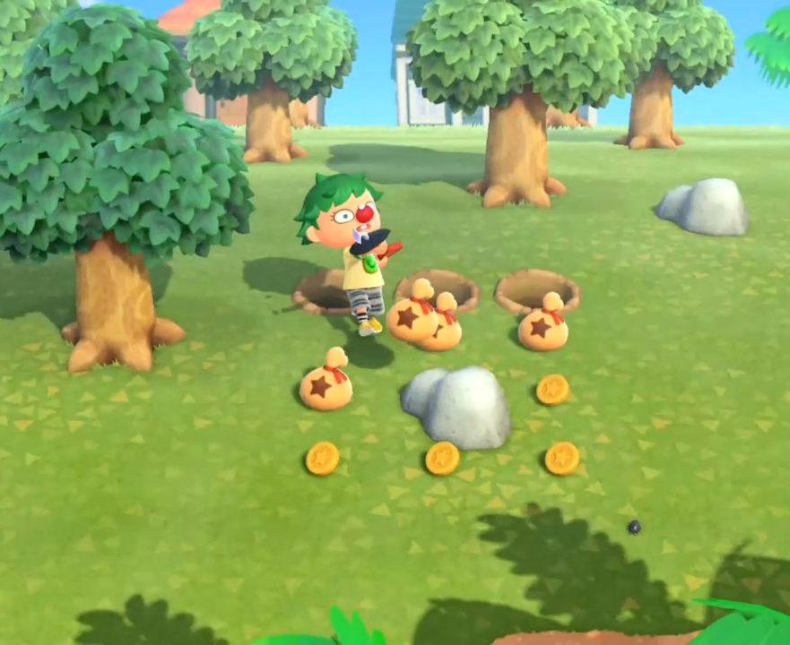 Guía Animal Crossing New Horizons golpear piedras dinero bayas