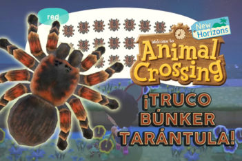 Truco Búnker Tarántula Animal Crossin New Horizons