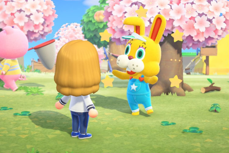 Animal Crossing New Horizons Caza del huevo Coti Conejal