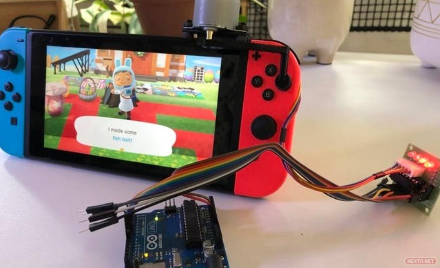 Robot pulsa botones Animal Crossing New Horizons